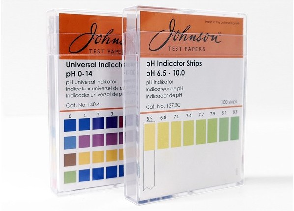 1 x box of Johnson Universal pH indicator strips