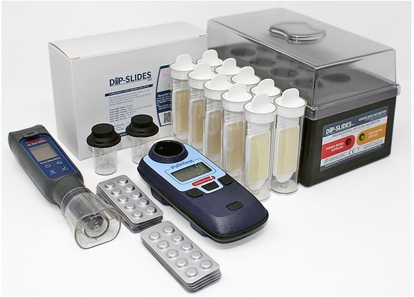 Cooling Water Test Kit - Bacteria, Yeasts and Moulds, pH, TDS, Temp, Chlorine
