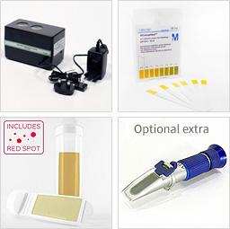 Metal fluid cutting test kit